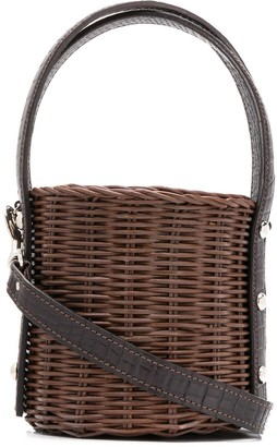 Wicker Wings Wicker Bucket Bag