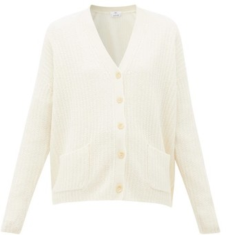 Allude V-neck Cashmere Cardigan - Womens - Cream