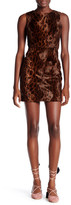Topshop Leopard Faux Fur Shift Dress