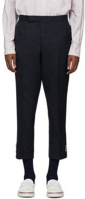 Thom Browne Navy Super 120s Vented Trousers