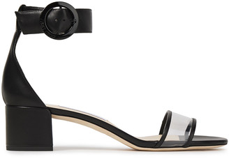 Jimmy Choo Jaimie 40 Leather And Pvc Sandals