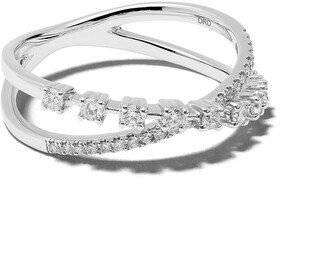 Dana Rebecca Designs 14kt white gold Ava Bea crossover diamond ring