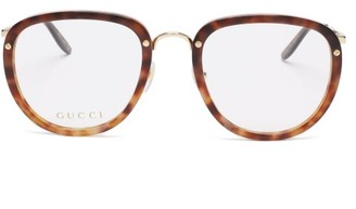 Gucci Round Tortoiseshell-acetate Glasses - Clear