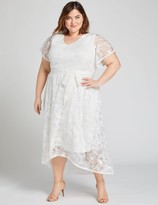 Lane Bryant Textured High-Low Fit & Flare Dress