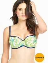 Cleo by Panache Avril Padded Balconette Bikini Top - Palm Print