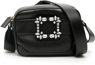 Roger Vivier Viv Run Camera Bag With Crystal Buckle