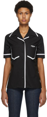 Fendi Black Eco Popeline Short Sleeve Shirt