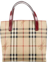 Burberry Mini Haymarket Check Tote