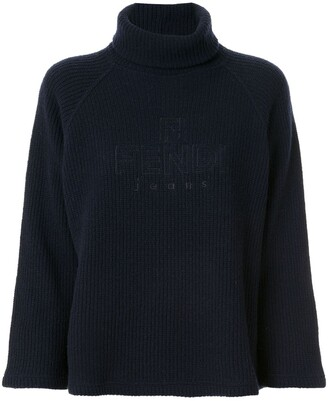Fendi Pre Owned Turtleneck Ribbed Jumper