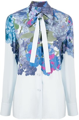Valentino Floral Print Blouse