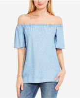 Vince Camuto TWO by Off-The-Shoulder Chambray Top