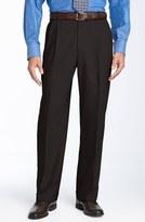 Ballin Double Reverse Pleated Wool Twill Trousers