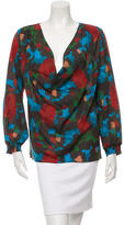 Alice + Olivia Silk Cowl Neck Blouse