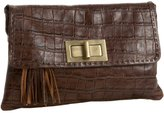 Amalfi Croc-Embossed Clutch