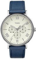 Timex Men's Southview Blue Leather Strap Watch