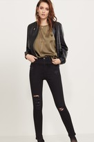 Dynamite Kate High Rise Skinny Jeans In Distressed Black