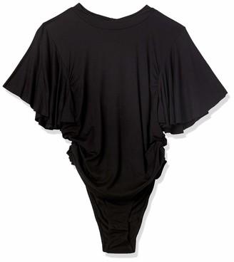 Forever 21 Women's Plus Size Butterfly-Sleeve Bodysuit