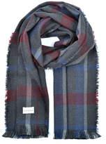 Amana Shops Plaid Extra Fine Merino Wool Scarf