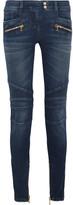 Balmain Moto-style Mid-rise Skinny Jeans - FR42