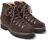 Ralph Lauren Purple Label Findel Ii Leather-panelled Suede Boots - Dark brown