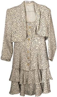 Azzaro White Silk Dress for Women Vintage