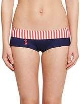 Daniel Hechter Lingerie Women's Striped Bikini Bottoms - Red -