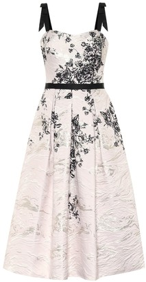 Marchesa Notte Floral jacquard dress
