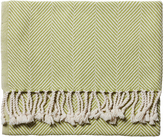 Serena & Lily Brahms Mount Herringbone Throw - Apple