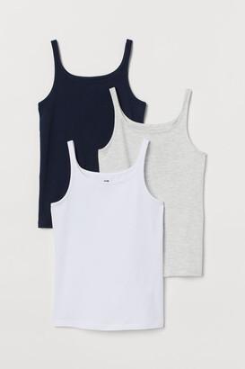 H&M 3-Pack Jersey Vest Tops