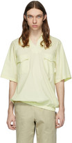 St Henri St-Henri Yellow Sky Collared Short Sleeve Shirt