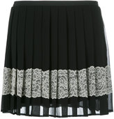 RED Valentino embellished crepe mini skirt