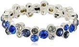 Anne Klein Silver-Tone Blue Multi-Stretch Bracelet