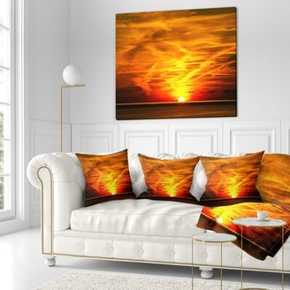"East Urban Home Designart 'Sunset Size: 16"" x 16"", Product Type: Product Type"