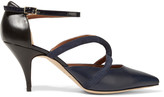 Malone Souliers Veronica suede, smooth and patent-leather pumps