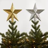 Glittered Star Tree Toppers Set of 2