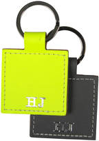 Undercover Personalised Recycled Leather Square Keyring