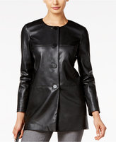 Alfani PRIMA Faux-Leather Blazer, Only at Macy's