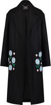 Markus Lupfer Cassie embellished floral-embroidered wool-blend coat