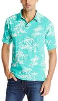 Margaritaville Men's Short-Sleeve Tropical Polo Shirt