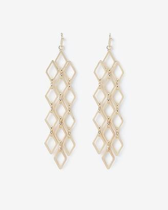 Express Diamond Link Fringe Drop Earrings