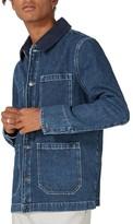 Topman Men's Denim Workwear Jacket