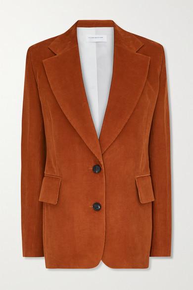 Victoria Beckham Cotton-corduroy Blazer - Brick