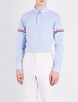 Thom Browne Classic striped-sleeves cotton-poplin shirt