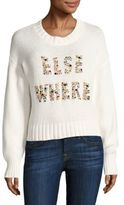Wildfox Couture Elsewhere Embellished Knit Sweater