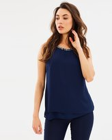 Wallis Embellished Neck Top