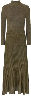 Sandro Metallic Knitted Dress