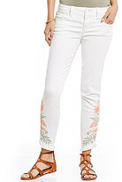 Miss Me Floral Embroidered Stretch Ankle Skinny Jeans