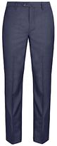 Hackett London Italian Sharkskin Wool Suit Trousers, Airforce Blue