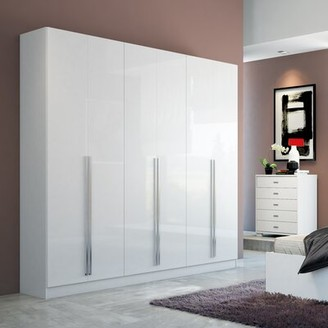 Wade Logan Claremont Armoire Color: White Gloss