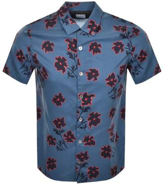 Paul Smith Short Sleeved Casual Shirt Blue